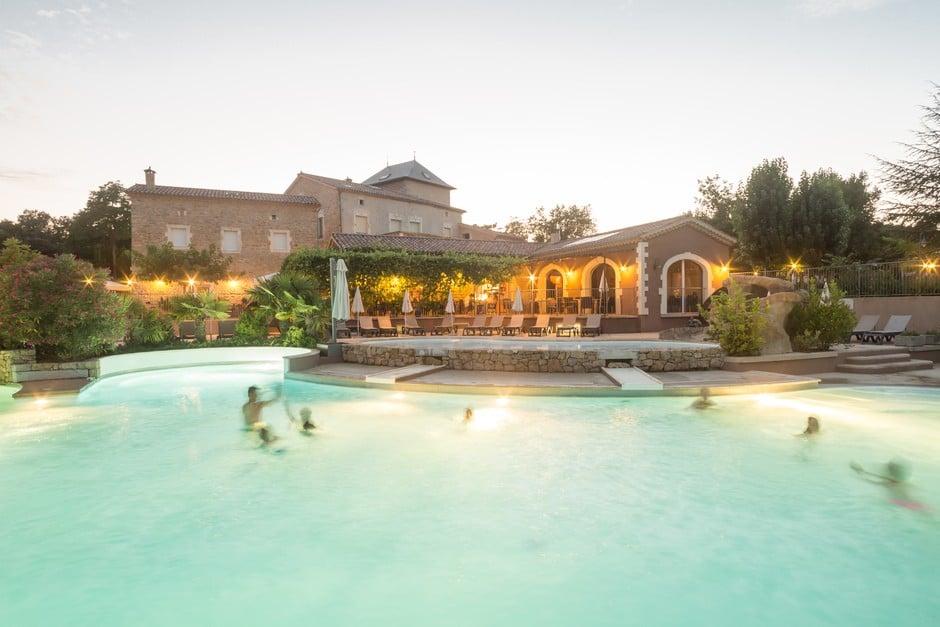 piscine du camping Ardèche